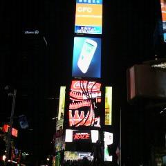 NYC タイムズスクエアー