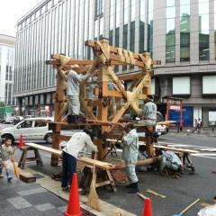 祇園祭り 鉾立て